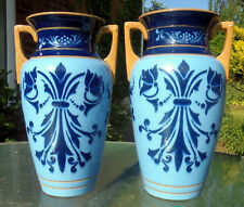 A lovely pair of Lovatts Langley ware vases, Art Nouveau style and glossed glaze