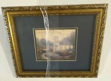 "Thomas Kinkade Framed Matted Print Blossom Hill Church 10"" X 12"" Gallery Wrapped"
