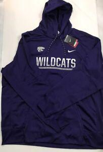 Nike Kansas State Wildcats Mens Prurple/Gray hoodie sweatshirt Size 3Xl