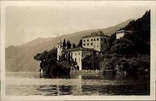 Lago di Como Italien s/w Ansichtskarte ~1920/30 Punto di Balbianello Landspitze