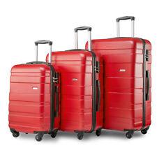 Merax Set of 3 Light Weight Hardshell 4 Wheel Travel Trolley Suitcase Set