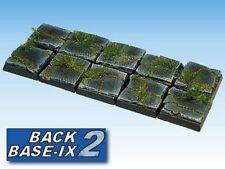 25mm Resin Scenic Bases (10) Square Paved Warhammer