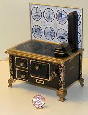 Dollhouse Miniature Tin Stove Delft Vintage Style Schopper 1:12 Scale