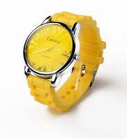 Sports Wrist Watch Rubber Silicone Gel Jelly Quartz Analog