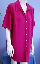 Evans Short Sleeve Collared Hip Length Women's Tops & Shirts