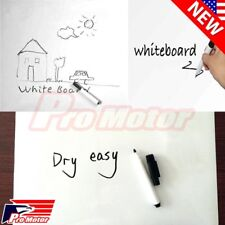 Office & School Supplies Frank 200*45cm Whiteboard Sticker Dry Erase Boards Removable Wall Decal Chalkboard With Whiteboard Pen For Kids Rooms Kitchen
