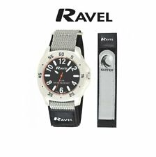 Ravel 5ATM Waterproof Sports Watch Surf Style Fast Action Grip Fabric Strap