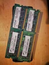 2x Crucial 128MB 266MHz DDR266 PC2100 DIMM CL2.5 CT1664Z265.4T Memory RAM Module