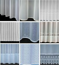 Cheap PLAIN VOILE NET CURTAINS SLOT TOP - Special Drop Sizes - Sold by the Meter