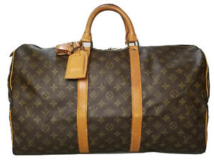 Louis Vuitton LV Monogram Keepall 50 M41426 Travel Bag Used 6-45-A51