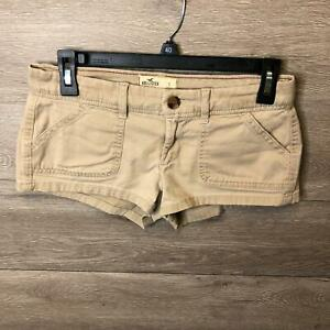 """Hollister Womens Size 1 Brown SoCal Stretch Twill Shorts NWOT """"Used"""""""