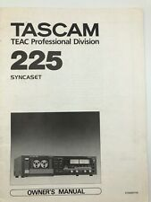 More details for tascam teac 225 syncaset owners manual with schematic diagram