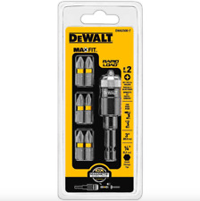 Dewalt Impact Driver Drill Bit Set Screw Holder Rapid Load 7 Piece #2 Bits Tool
