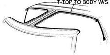 1987-1988 Mustang T-Top to Body Weatherstrip Seal (Seals Glass Panel to Body) LH