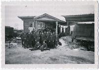 Wehrmacht. Ein Quartier in Rußland, Originalfoto von 1942
