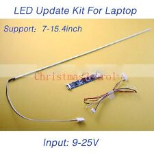 "10 Sets LED Backlight Lamp Strip Update Kit  for 7""-15.4"" Laptop + Board 9-25V"