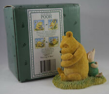 BORDER FINE ARTS CLASSIC POOH A0677 'HAVING A REST' WINNIE THE POOH & PIGLET