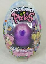 """Hatchimals - Pixies 2.5"""" Collectible Doll and Accessories Crystal Canyon Purple"""