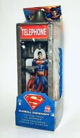 """Vintage 2005 Superman TELEPHONE BOOTH Gumball Dispenser candy container RARE 7"""""""
