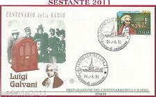 ITALIA FDC FILAGRANO CENTENARIO RADIO LUIGI GALVANI 1991 ANNULLO TORINO S42