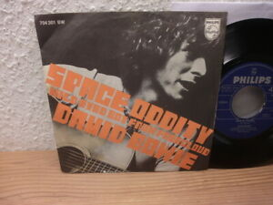 """David Bowie 7"""" Space Oddity 1969 Philips First Press Picture Cover 45 Single"""