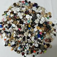 Vintage Lot of Mixed Buttons 3 Pounds