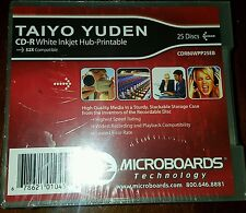 Taiyo Yuden CD-R White Ink Jet 25-Disc Spindle New
