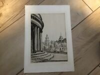 Manchester R.I. From the Art  Gallery C1923 Leonard Brewer Signed Etching Listed