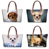 Fashion Cute Pet Chihuahua Women Handbag Shoulder Bag Women Satchel Tote Purse
