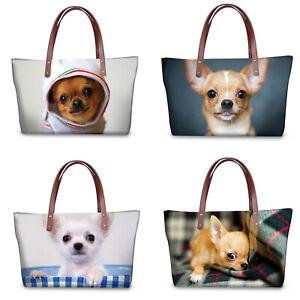 Fashion Cute Pet Chihuahua Women Handbag Shoulder Bag Women Satchel Tote Purse