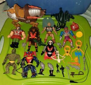 VINTAGE MOTU ACTION FIGURE AND ACCESSORIES LOT BATTLE ARMOR HE-MAN HORDAK RARE!