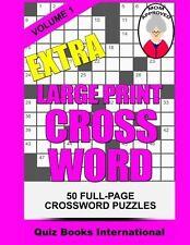Extra Large Print Crossword Volume 1 NEW BOOK