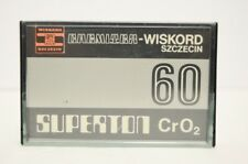#2 USED Vtg Polish Cr02 Audio Cassette Tape SUPERTRON Wiskord Szczecin Chemitex