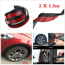 2X1.5M Carbon Fiber Car Wheel Eyebrow Protector Trim Arch Flare Fender Strips