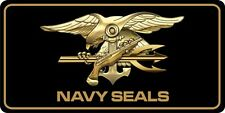 Navy Seals Black Photo License Plate