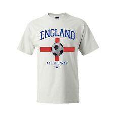 hombre camiseta de fútbol 100% algodón Inglaterra BRASIL Argentina Alemania