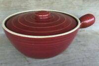 LARGE Uhl Casserole Dish with Handle & Lid #196 stamped UHL Mauve
