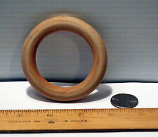 "Wooden Toss Teething Ring 3"" w/ 2"" hole in Center New Unfinished Wood Craft"