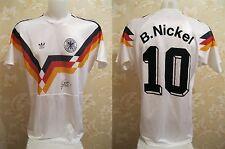 5/5 SIGNED Deutschland 1989/1991 home Sz L  Germany Adidas shirt jersey trikot