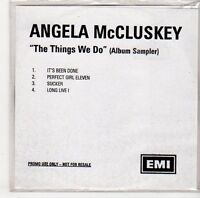(ER74) Angela McCluskey, The Things We Do sampler - DJ CD