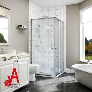 Corner Shower Enclosure Bath Screen Sliding Door Cubicle Quadrant 900x900mm
