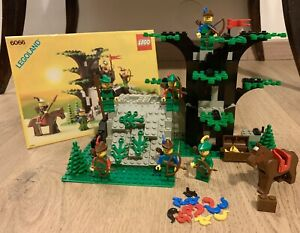 Lego Castle Forestmen 6066 - Camouflaged Outpost (1986) Completo Al 100%
