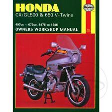Honda CX 500 E Euro Sports 1982-1986 Haynes Service Repair Manual 0442