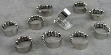 WHOLESALE 10 PCS VINTAGE FRIENDSHIP ID SIGNET STAINLESS STEEL STRETCH RINGS NOS