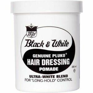 Black & White Original Pluko Hair Wax Pomade - 200ml - NEW