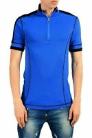 Versace Collection Men's Blue Short Sleeve Casual Shirt US M IT 50