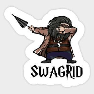 Harry Potter Swagrid Dabbing Hagrid Vinyl Decal Sticker Laptop Car Bumper