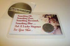 1961 UK BRITISH WEDDING SIXPENCE Coin, Laminated & Magnetic Keepsake Gift Card