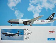 Herpa Wings 1:500 Boeing 767-300 United Airlines n653ua 526722 modellairport500