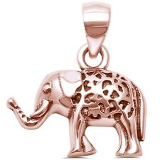 Rose Gold Plated Elephant .925 Sterling Silver Pendant
